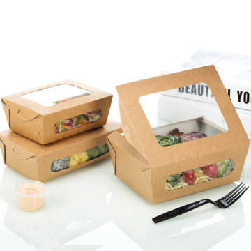 Food Grade Take Away Kraft Boxes For Salad