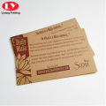Custom Kraft Paper Thank You Card with Logo