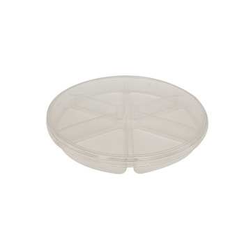 Transparent PET 6 Compartment Blister Insert Tray packaging