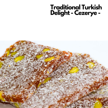 Quality Turkish Delight Cezerye Carrot and Delight With Pistachio Gift Turkish Cuisine Made in Turkey