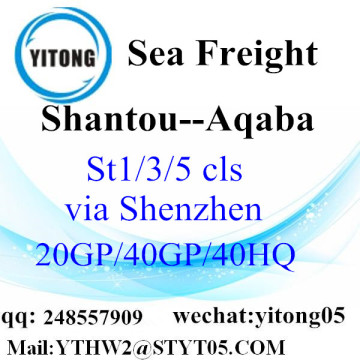 Shantou Warehouse Service to Aqaba