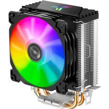 CR1200 2 Heat Pipe Tower CPU Cooler RGB 3Pin Cooling Fans Heatsink 9cm color soft light fan PU Cooler Streamer radiator