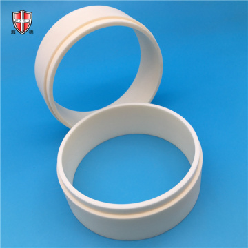 isostatic moulding al2o3 alumina ceramic ring bush sleeve