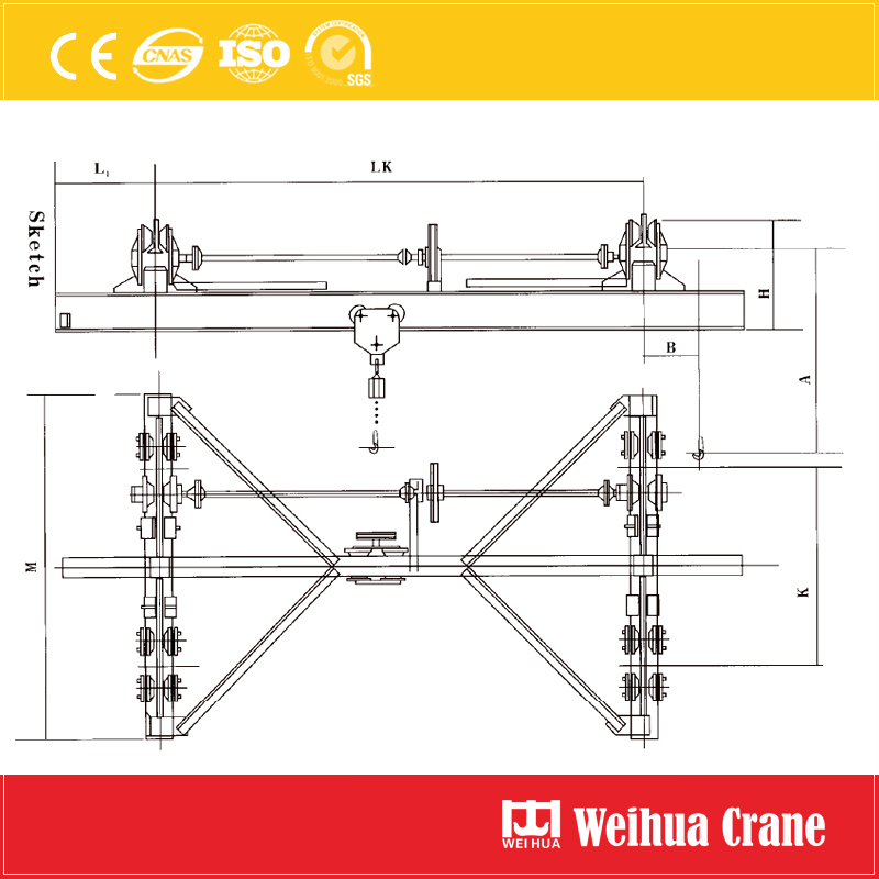 Manual Suspension Crane Sketch