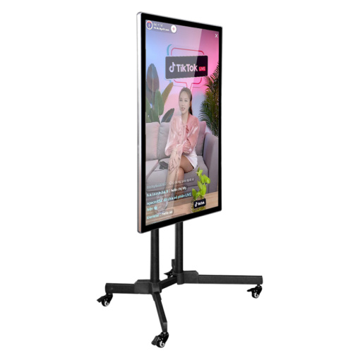 "19""-75"" live streaming movable big screen"