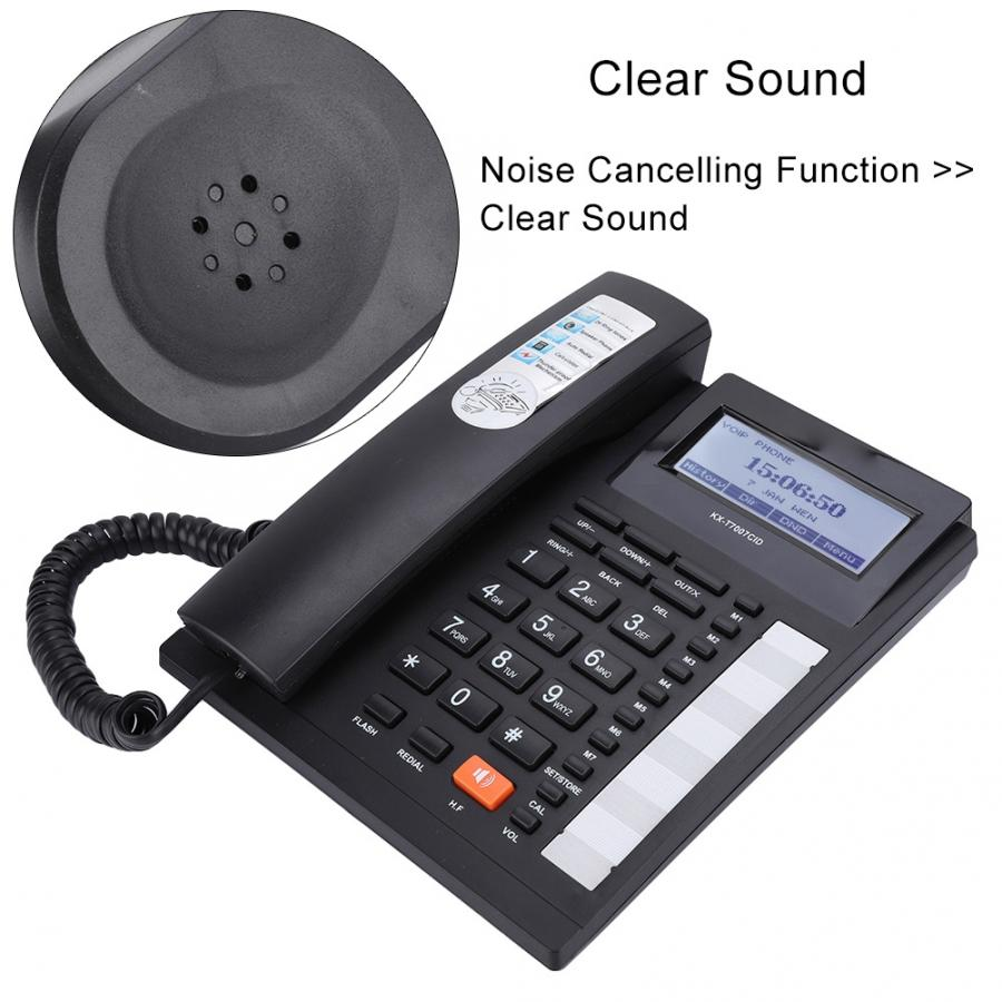 telefono Landline Phone Large Buttons Extension Set Corded Phone with Speakerphone with LCD Display Home Office Hotel Telephone