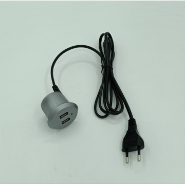 Silver Round USB Charger