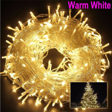 Christmas Outdoor String Lights Garland 5M 10M 20M 30M 50M 100M Waterproof LED Fairy Light for Wedding Party Xmas Holiday Light