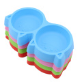 Cute Puppy Slow Down Eating Feeder Cat Shape Dish Bowel New Plastic Pet Dog Feeding Food Bowls Prevent Obesity Dogs Supplies