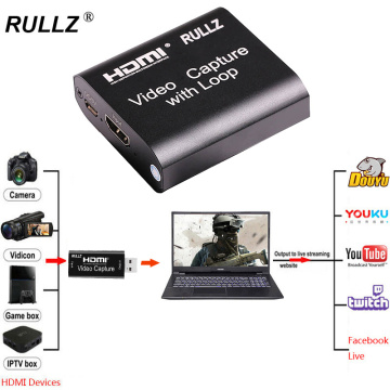 Mini 4K Audio Video Capture Card 1080P HDMI To USB Game Recording Box for PS4 DVD TV Box Record Support Live Streaming Broadcast
