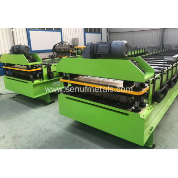 Corrugated floor decking roof sheet forming machine