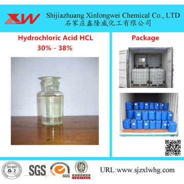 Hydrochloric acid 36%-38% Food Grade, Industrial Grade and Reagent Grade
