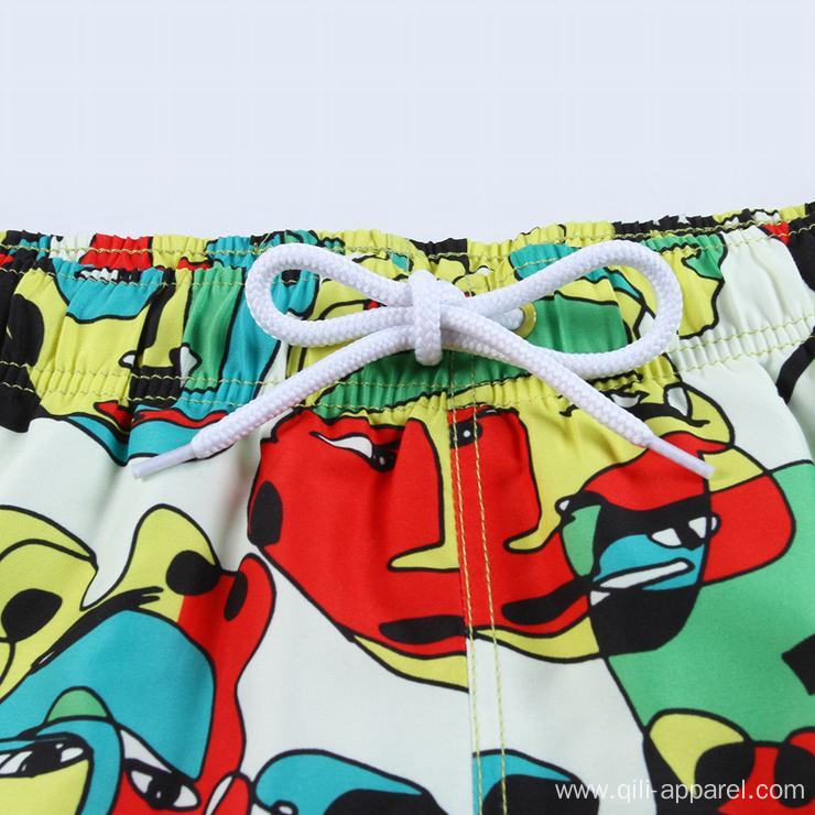 Colorful summer men swimwear swim trunks