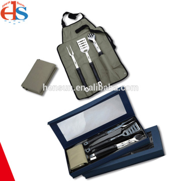 Plastic Handle BBQ Tool Set in Nylon Bag.