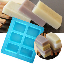 Blue Rectangle Silicone Soap Mold Bar Bake Mold Silicone Mould Tray Homemade Food Craft Craft Soap Making Handmade Tools