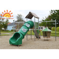 Park Tube Slides Kids Backyard Playground