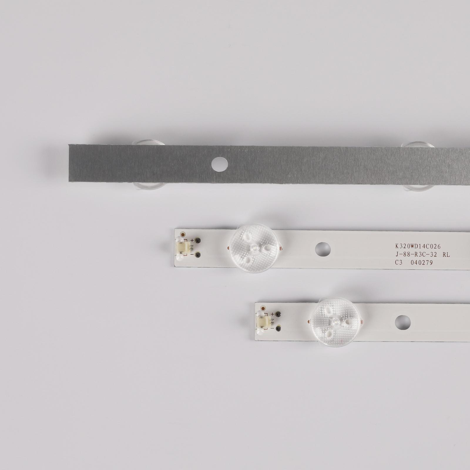 618mm 8LED TV Lamps LED Backlight Strips 4708-K320WD-A4213K01 K320WD A4 2014-8-2 TV Bars Kit LED Bands Rulers K320WD5 K320WD6