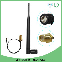 433Mhz lora Antenna lorawan 2p5dbi RP-SMA Connector antena 433 mhz antenne for lora lorawan 433m + 21cm SMA Male Pigtail Cable