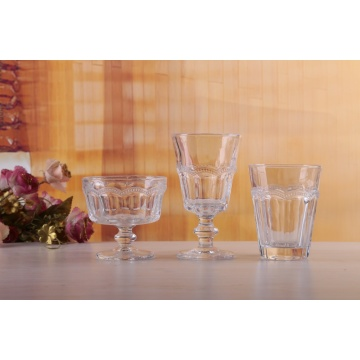 Hand Made Pearl Octagonal Wine And Ice Cream Glasses