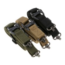 MS4 Tactical Gun Sling Belt Rope QD Rotary Plug 2 Single Point Nylon Safety Lanyard Military Mission Gear Hunting Accessories