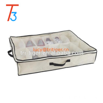 12 pair under bed shoe storage bag box organizer