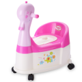 Duck Shape Plastic Baby Potty Chair With Wheel