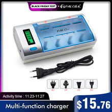 fast LCD smart battery charger for 1.2V NI-MH nimh ni mh NI-CD AA / AAA / C / D SC / 9V 6F22 rechargeable battery