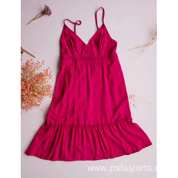 Rose Color Mid-length Dress