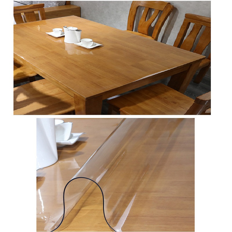 Pvc Thick Clear Plastic Table Cloth