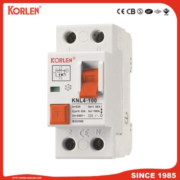Residual Current Circuit Breaker KNL4-100 100A CE 4P