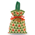 Green Triangle Christmas Gift Bags Non-woven Packing Pouches