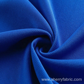 100% Poly weft knitting pique mesh fabric polo