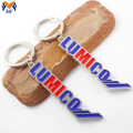 Metal letter charm keychain with own logo