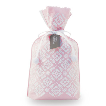 Lady Pink Christmas Party Drawstring Gift Pacakaging