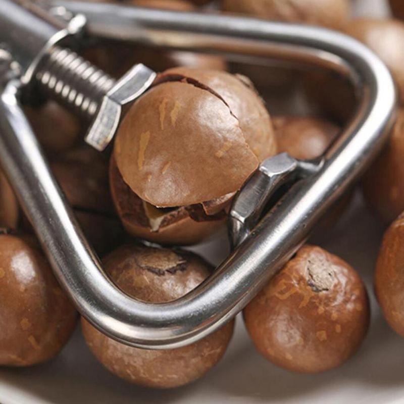 Multifunctional Manual Nut Opener Cracker Machine Walnut Steel Opening Kitchen Sheller Nut Macadamia Stainless Accessories E0S5
