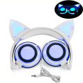 LED Glowing Cat Ears Safe Wired Kids Headsets