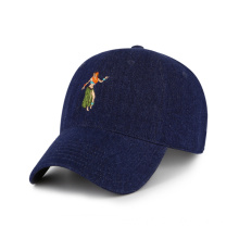denim baseball cap custom hat with embroidery logo