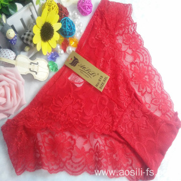 OEM wholesale China cheap red sexy girl slimming lace cotton fancy underwear 515