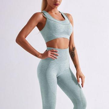 women sports bra and leggings set