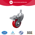Light 4 80Kg Threaded Brake TPU Caster
