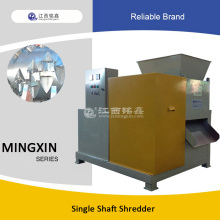 wood, plastic, metal single shaft shredder machine