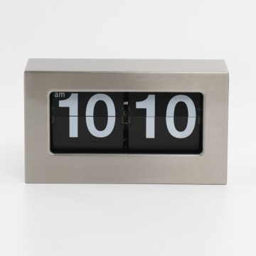 Metal Box Flip Clocks for Table and Wall