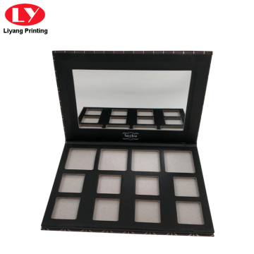 Cardboard Paper Eyeshadow Palette Box with Mirror