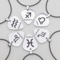 Custom Zodiac Sign Necklace With Guitar Pick
