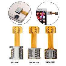 1pc New DIY Practical Universal TF Hybrid Sim Slot Dual SIM Extender Card Adapter Micro SD Extender Nano Cato Android Phone