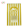 Popcorn bag packaging paper bag with window