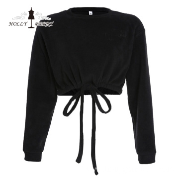 Elastic Midriff-baring Fashion Girls Blouse