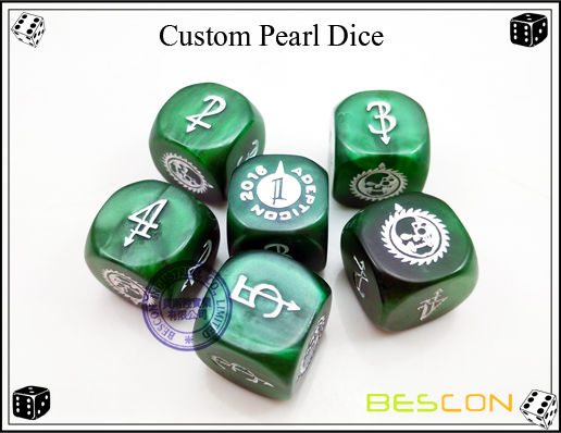 Custom Pearl Dice
