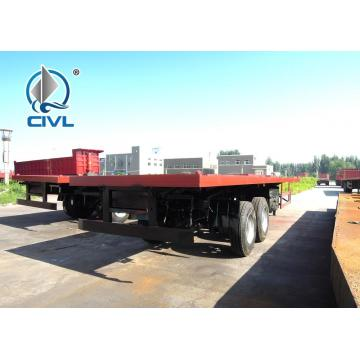 Tri Axle Mechnical Suspension 20ft Flatbed Trailer
