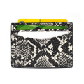 Promotion Gift Python Leather Business Credit Card Holder